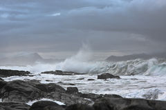 Atlantic ocean. Stormy on the norway atlantic coast Royalty Free Stock Image