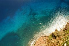 Atlantic Ocean. View on the Atlantic Ocean  from Cabo Girao, Madeira Stock Photo