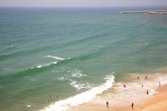 Atlantic ocean in Albufeira Algarve Portugal Stock Photography