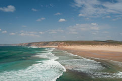 Atlantic ocean in Algarve coast, Portugal. Summer vacations Stock Photography