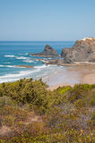 Atlantic ocean in Algarve coast, Portugal. Summer vacations Stock Images