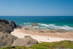 Atlantic ocean in Algarve coast, Portugal. Summer vacations Royalty Free Stock Image
