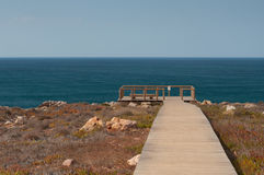 Atlantic ocean in Algarve coast, Portugal. Summer vacations Royalty Free Stock Photography