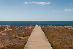 Atlantic ocean in Algarve coast, Portugal. Summer vacations Royalty Free Stock Images