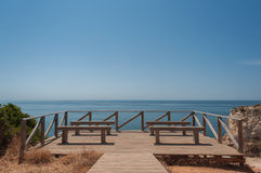 Atlantic ocean in Algarve coast, Portugal. Summer vacations Royalty Free Stock Photos