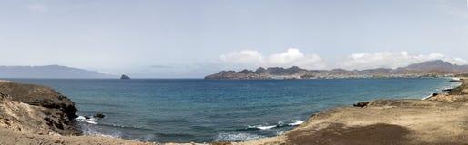 Atlantic ocean and bay Porto Grande Stock Photo