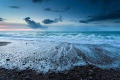 Atlantic ocean beach at dusk Royalty Free Stock Image