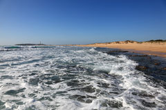 Atlantic ocean beach in El Palmar,  Spain Royalty Free Stock Photo