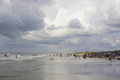Atlantic ocean beach life Stock Images