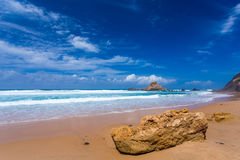 Atlantic ocean beach, Portugal Stock Photo