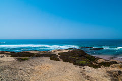 Atlantic ocean and beach in Portugal Royalty Free Stock Photography