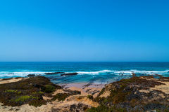 Atlantic ocean and beach in Portugal Stock Photography
