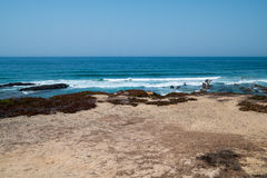 Atlantic ocean and beach in Portugal Royalty Free Stock Photo