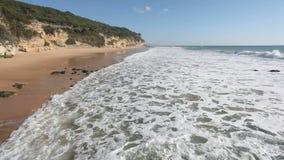 Atlantic ocean beach in Spain Stock Image