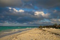 Atlantic ocean beach view Stock Image