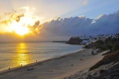 The Atlantic Ocean and beautiful beach of Fuerteventura Stock Images