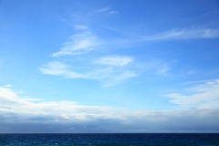 Atlantic ocean - beautiful seascape. Sea horizon and blue sky. May be used as background Stock Photo