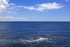 Blue ocean. Atlantic Ocean , blue water landscape royalty free stock photo