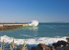 Atlantic Ocean. Cascais, Portugal Stock Images