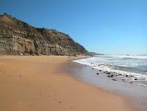 Atlantic Ocean coast. The Atlantic Ocean rocky coast in the summer. Sandy beach Stock Photography