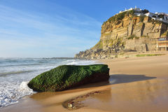 Atlantic Ocean coast, Azenhas do Mar village, Sintra, Lisbon, Po Royalty Free Stock Image