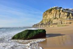 Atlantic Ocean coast, Azenhas do Mar village, Sintra, Lisbon, Po Royalty Free Stock Photo