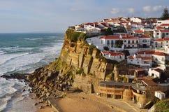 Atlantic Ocean coast, Azenhas do Mar village, Sintra, Lisbon, Po Stock Photography