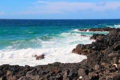 Atlantic ocean coast on Azores islands Stock Photos