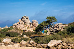 Atlantic ocean coast in Brittany Royalty Free Stock Image