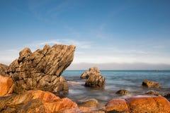 Atlantic ocean coast in Brittany. Near Ploumanac'h (France Stock Photos