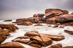 Atlantic ocean coast in Brittany. Near Ploumanac'h (France Stock Image