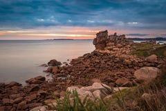 Atlantic ocean coast in Brittany. Near Ploumanac'h (France Stock Photography