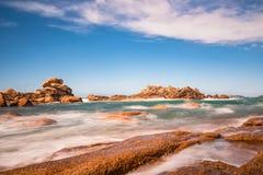 Atlantic ocean coast in Brittany. Near Ploumanac'h (France Stock Photo