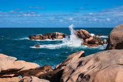 Atlantic ocean coast in Brittany Stock Images