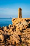 Atlantic Ocean coast in Brittany near Ploumanach, France Stock Photo