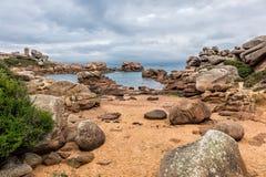 Atlantic ocean coast in Brittany Royalty Free Stock Image