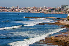 Atlantic Ocean Coast in Cascais and Estoril Stock Photo