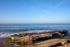 Atlantic Ocean Coast in Cascais Stock Photography