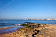 Atlantic Ocean Coast in Cascais Royalty Free Stock Photography