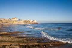 Atlantic Ocean Coast in Estoril Royalty Free Stock Photos
