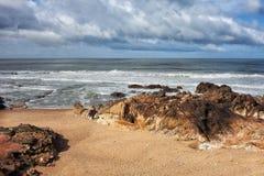 Atlantic Ocean Coast at Foz do Douro in Porto Royalty Free Stock Photo