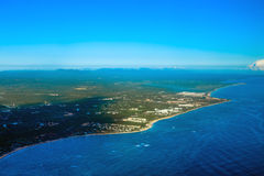 Atlantic Ocean coast from helicopter view Royalty Free Stock Photo