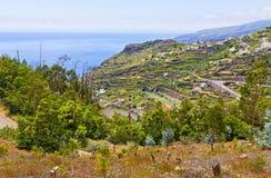 Atlantic Ocean coast on Madeira island, Portugal Royalty Free Stock Images