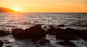 Atlantic ocean coast in Morocco, Tangier Royalty Free Stock Images