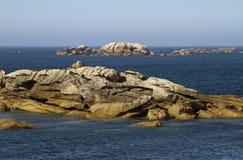 Atlantic Ocean Coast near Meneham, Brittany Stock Image