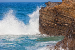 Atlantic Ocean at the coast of Portugal Stock Photography