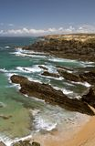 Atlantic ocean coast reef at Sardao cape (Cabo Sardao) Royalty Free Stock Image