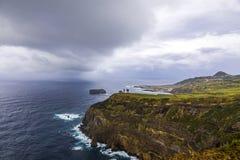 Atlantic Ocean coast of Sao Miguel Island, Azores, Portugal stock images