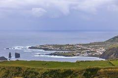 Atlantic Ocean coast of Sao Miguel Island, Azores, Portugal royalty free stock photography