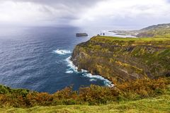 Atlantic Ocean coast of Sao Miguel Island, Azores, Portugal royalty free stock photo